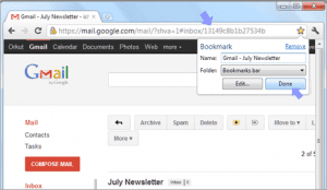 gmail bookmark message