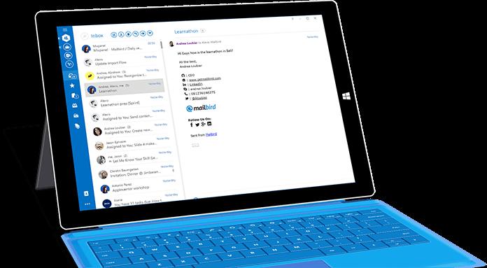 Mailbird desktop email client