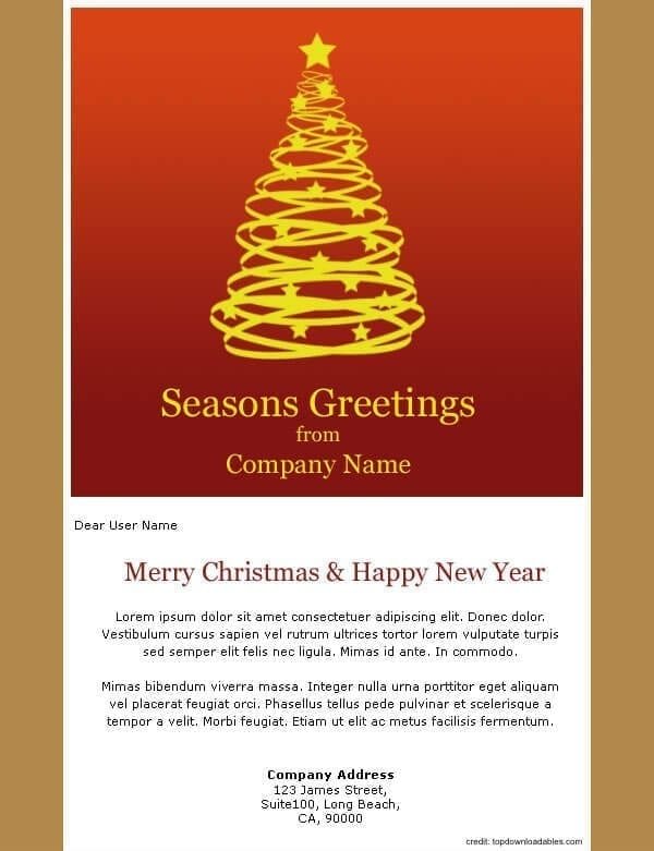 Holiday Message Template
