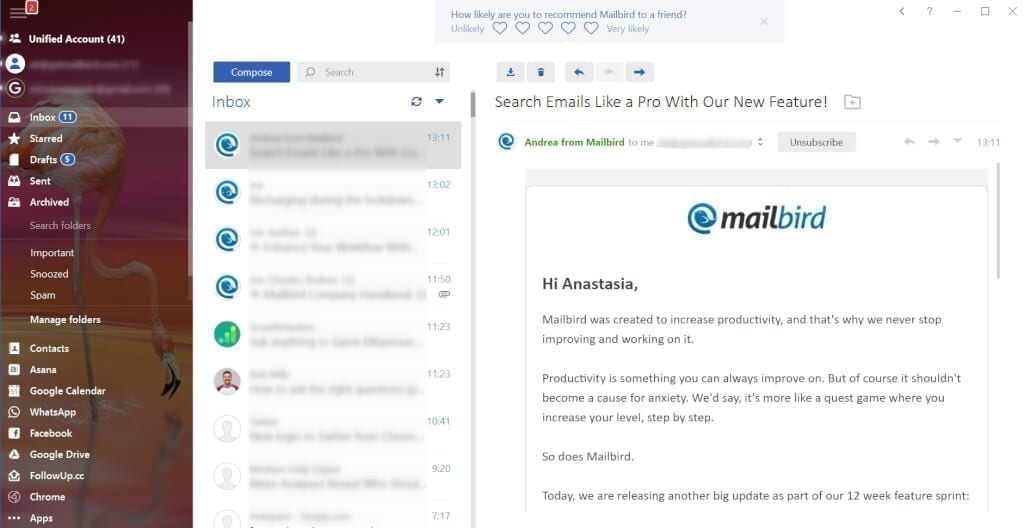 Custom Background Images in Mailbird Email Client