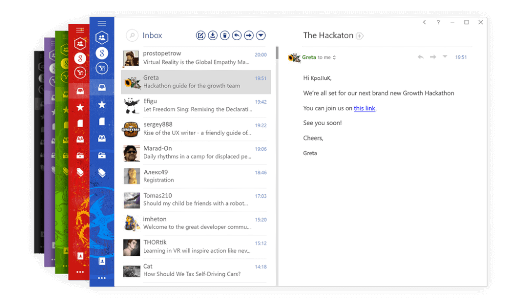Mailbird to manage multipne email accounts