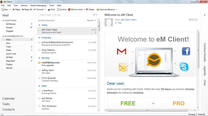 alternatives gratuites à Outlook