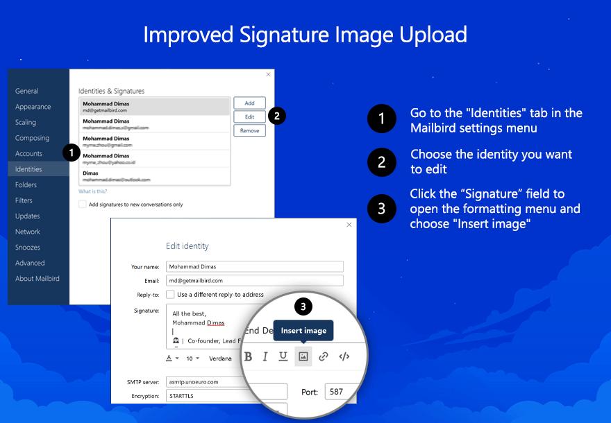 Signature Image Upload in Mailbird
