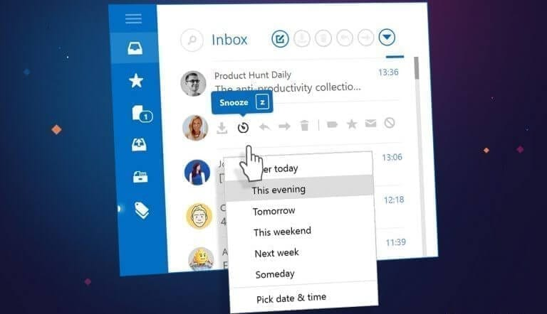 Snooze emails for better email management