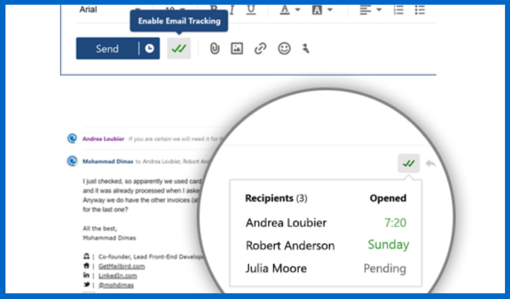 EmailTracking in Mailbird