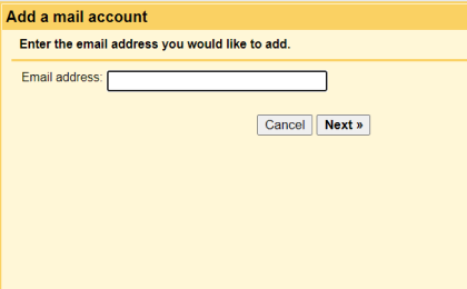 Step 3: To configure Yahoo.com On Gmail, Enter the email address you would like to add.