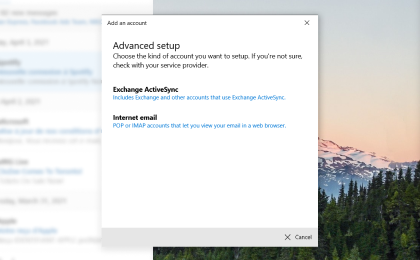 Step 1: To configure Zeelandnet.nl On Windows Mail, Click on Internet email