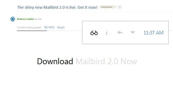 Email speed reader - Mailbird
