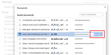 See Saved Passwords in Google Chrome