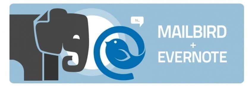 mailbird + evernote