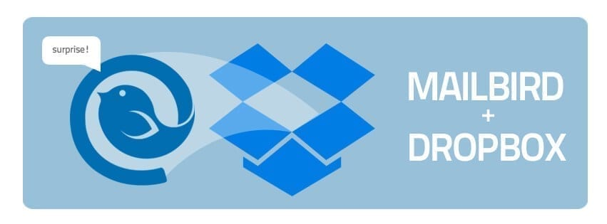 mailbird and dropbox integration