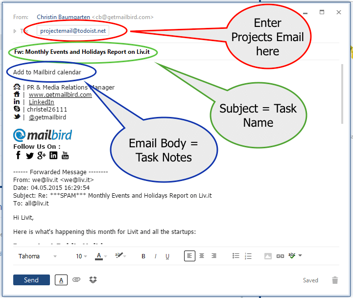 Email a Task