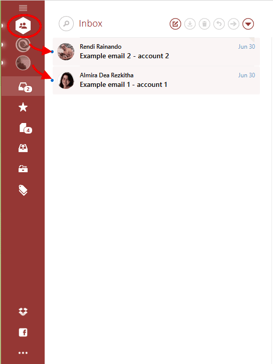 Emails in Unified Inbox Plus