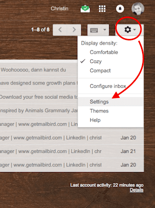 Gmail Account Settings