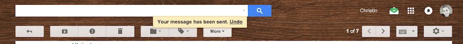 Undo sent now