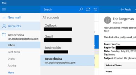 Windows 10 Mail - Posteingang