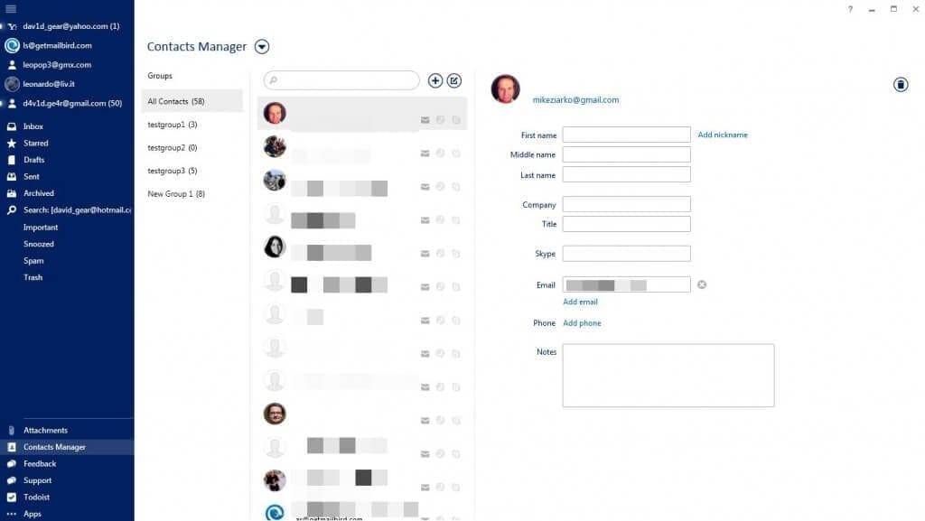 Mailbird - Kontaktmanager