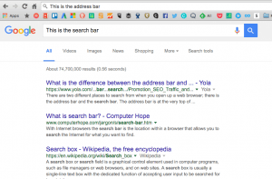 search bar vs address bar