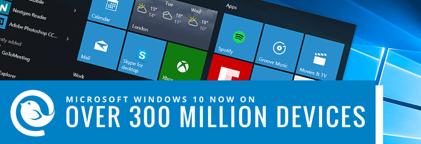 Windows 10 on over 300 million devices
