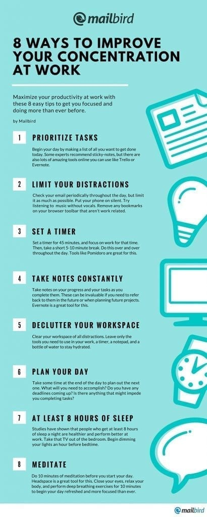 8 ways to improve your concentration at work