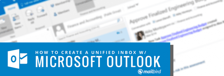 Unified Inbox in Outlook: The Complete 2019 Guide - Mailbird