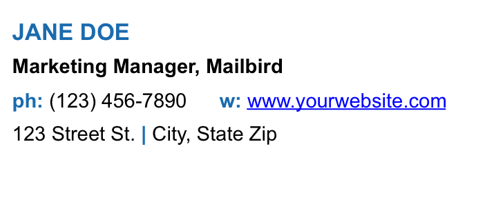 10 Examples Of Business Email Signatures 2019 Mailbird