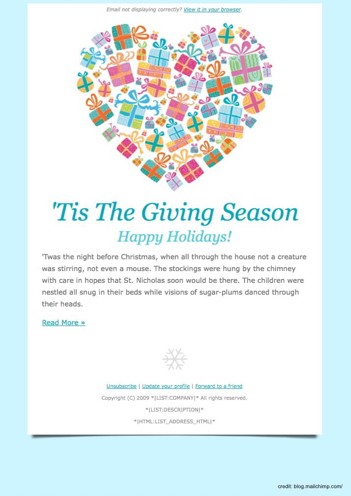 Finding The Right Holiday Greetings Email Template Mailbird