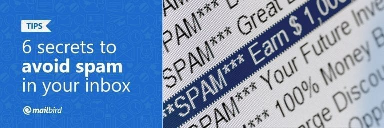 6 Secrets to Avoid Spam in Your Inbox - Mailbird