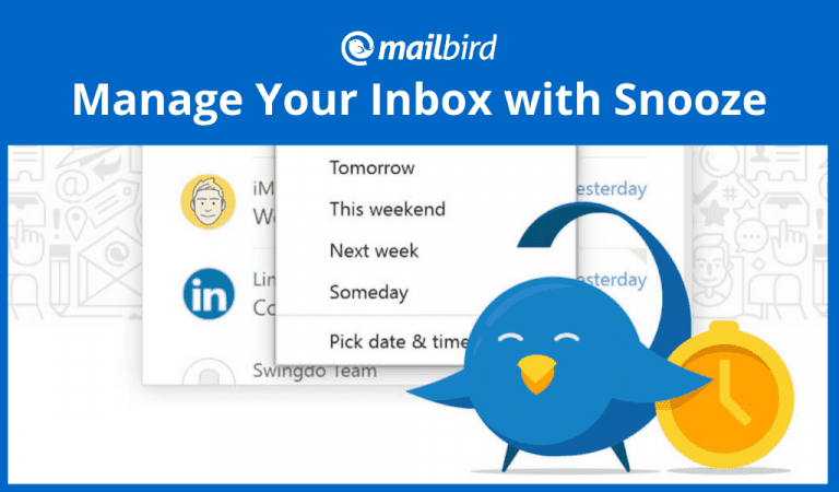 Snooze Email in Mailbird