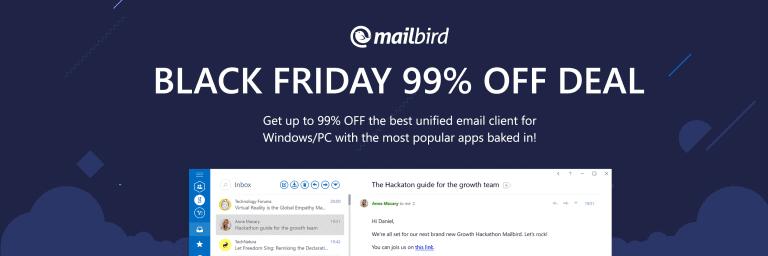 Mailbird's crazy Black Friday and Cyber Monday Deal - Mailbird