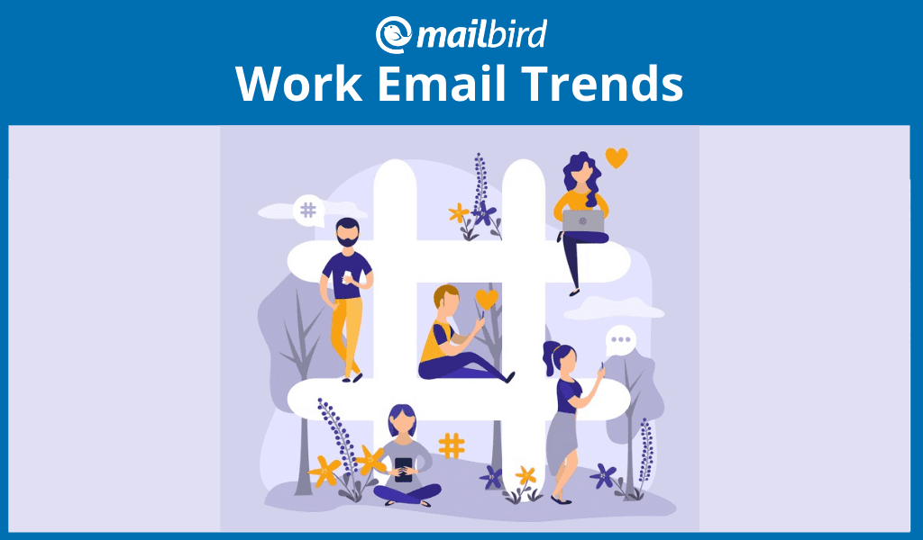 Infographic about work email trends after hours
