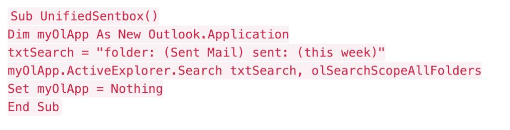 Outlook combined inbox. Macro - 2