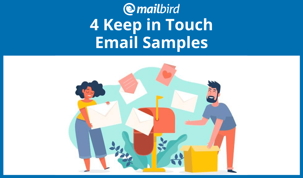 Keep in touch email sample options