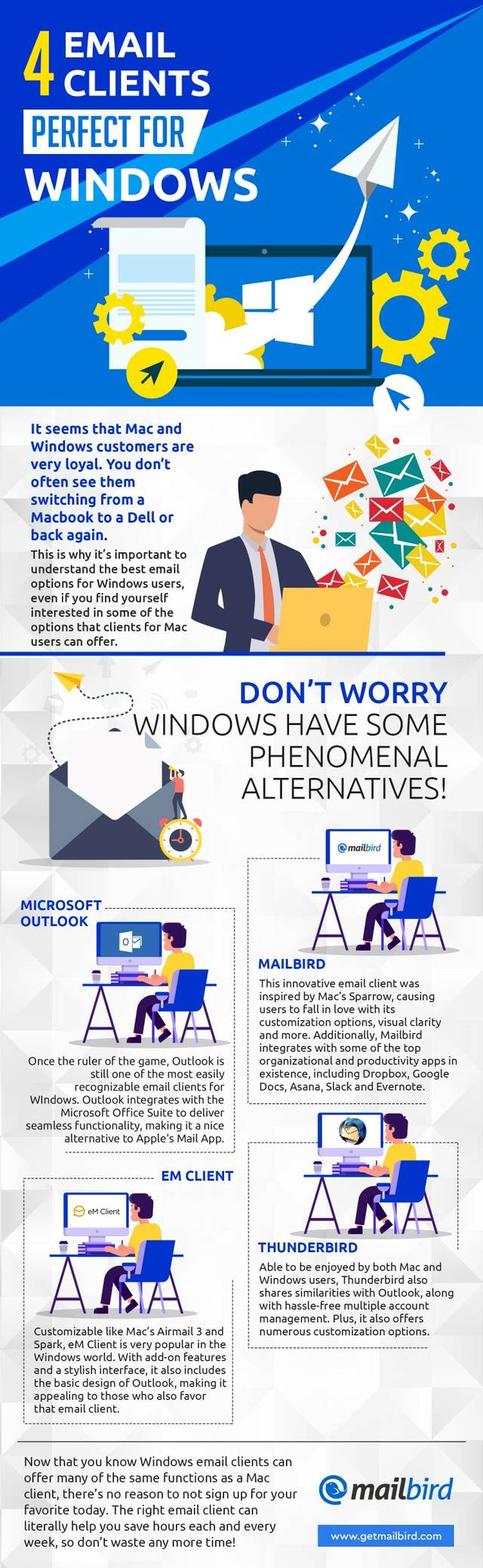 Best Alternatives to Apple Mail for Windows - Infographics