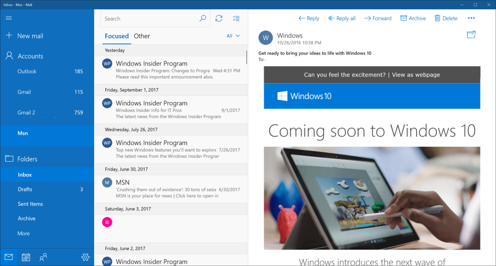 Outlook Alternative #5: Windows Mail