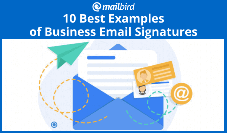 Top ten professional email signature examples
