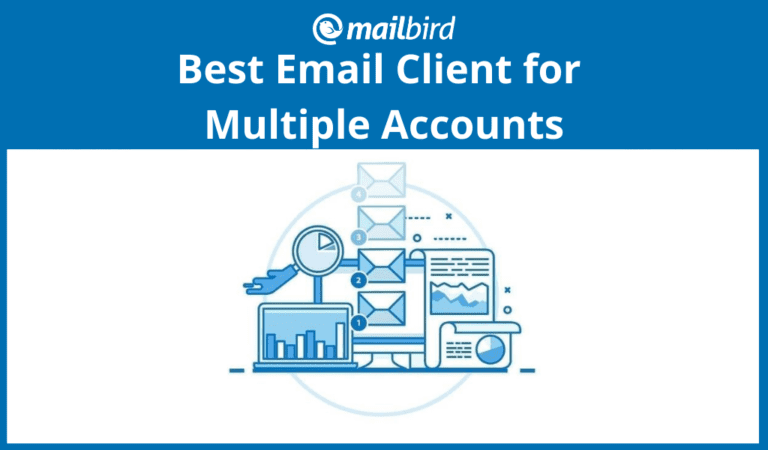 Email client for multiple email accounts