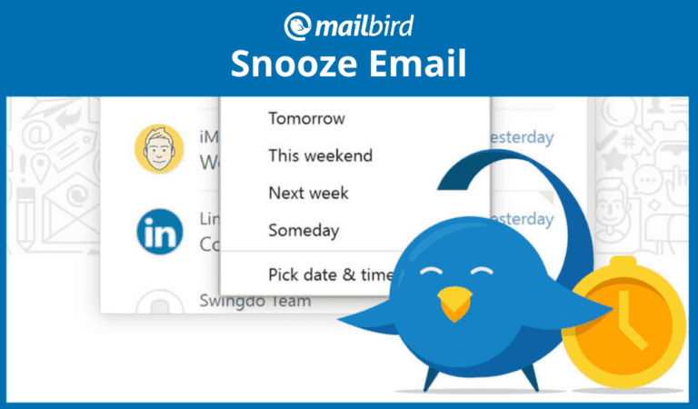 Snooze email feature to help clean up the iinbox